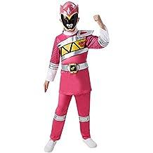 Disfraz oficial de Rubie de los Power Rangers para niño en color rosa de tamaño mediano
