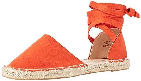 New Look Damen Wide Foot Jas Espadrilles, Orange (Orange Pattern), 39 EU