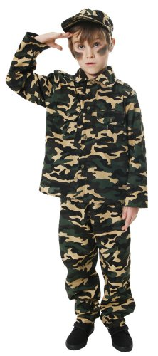 Kostüm Boy Soldier - Boys Army Soldier Fancy Dress Costume Age 6-8 by Army Boy