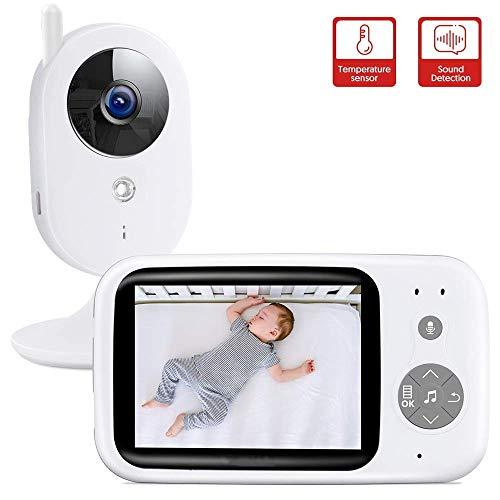 MOCN Vigilabebés Inalambrico con cámara, Monitor para Bebés Digital Compatible con Infrarrojos Sala...