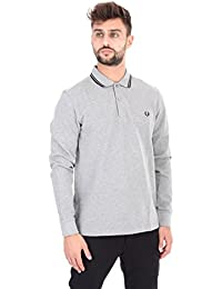 FRED PERRY - Polo - Homme - Polo Classic Slim Fit Manches Longues Gris pour homme