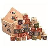 Zest 4 Toyz 27pcs Alphabet Building Blocks ABC/123 Wooden Cube Figure Blocks Educational
