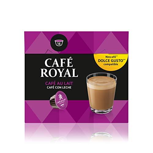 Café Royal Café Au Lait 48 Nescafé Dolce Gusto kompatible Kapseln, 3er Pack (3 x 16 Kaffeekapseln)