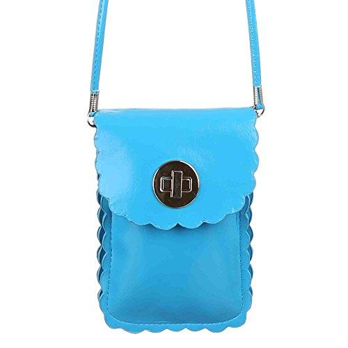Ital-DesignSchultertasche bei Ital-Design - Borsa a spalla Donna Blu (blu chiaro)