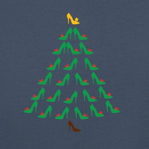 Schuh-Weihnachtsbaum - Herren T-Shirt - 13 Farben Navy