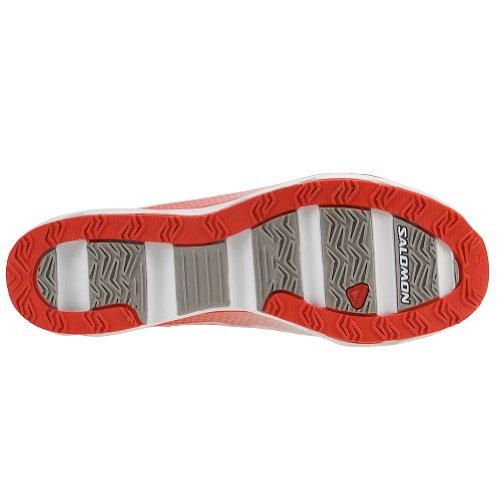Salomon S-vent Femmes Course Chaussures, Rouge Papaya-B/White/Aluminium