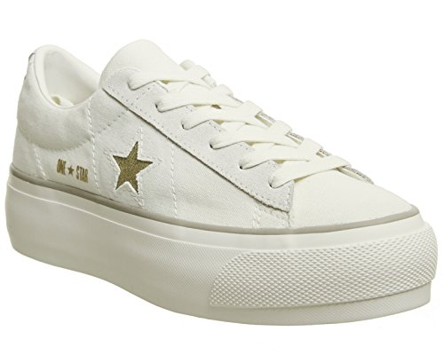 Damen-sneaker, Keil Converse (Converse 560985C One Star Platform Ox Sneakers Damen Egret 40)