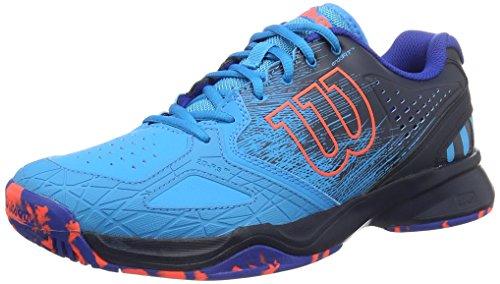 WILSON Kaos Comp Blaze/Fier 9.5, Scarpe da Tennis Uomo, Blu (Hawaiian Ocean/Navy Blazer/Fiery Co), 44 EU