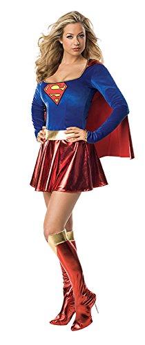 Generique - Sexy Supergirl-Kostüm Deluxe für Damen L