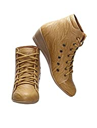 CATBIRD Women Camel Stylish Casual Boots LED-48 (40)
