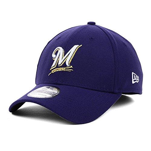 New Era Milwaukee Brewers Stretch Fit Basic MLB Cap Navy M/L