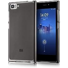 tinxi® Funda de silicona para Xiaomi MI3 Mi3 M3 Caso de silicona TPU caso de la cubierta de la contraportada de silicona protectora caso bolsa transparente y negro fondo