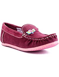 Willy Winkies - Burgandy Color Genuine Leather Shoes-116 - 24
