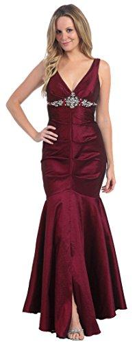 Abendkleider lang elegant Abi-Ballkleid Meerjungfrau-Kleid Mermaid bodenlang Stretch Damen Abendmode...