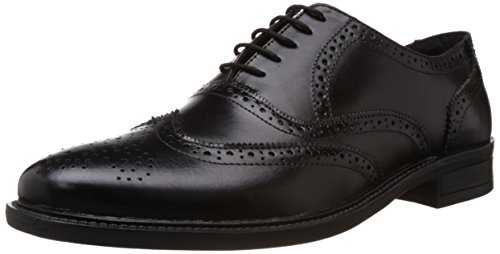 Albert & James Men's Black Formal Shoes - 7 UK (AJ3)