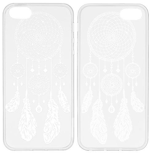 mumbi Coque de protection pour iPhone SE/5/5s Motif Mandala Griffonnage Capteur de rêves