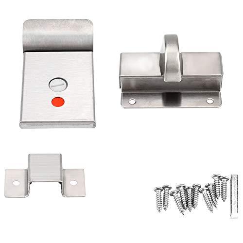 Garosa Türschloss Zinklegierung Edelstahl mit Indikator und Verschraubung für Badezimmer WC Öffentliche Toiletten WC