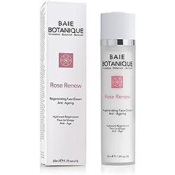 Baie Botanique - Anti-Aging Gesichtscreme - Mit Rosenwasser, Rose Absolue, Hagebuttenkernöl, Glykolsäure, Vitamin C, MSM, Grüner Tee, Peptide
