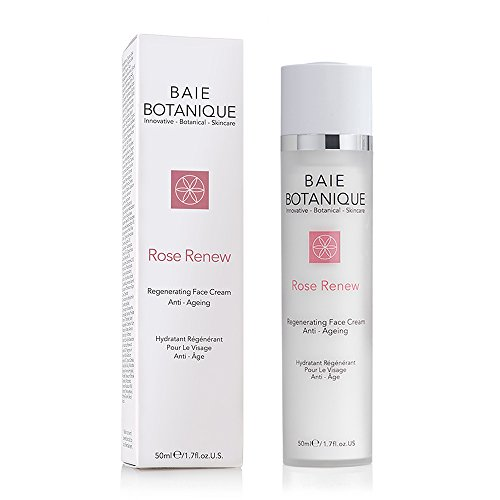 Baie Botanique - Anti-Aging Gesichtscreme - Mit Rosenwasser, Rose Absolue, Hagebuttenkernöl, Glykolsäure, Vitamin C, MSM, Grüner Tee,...