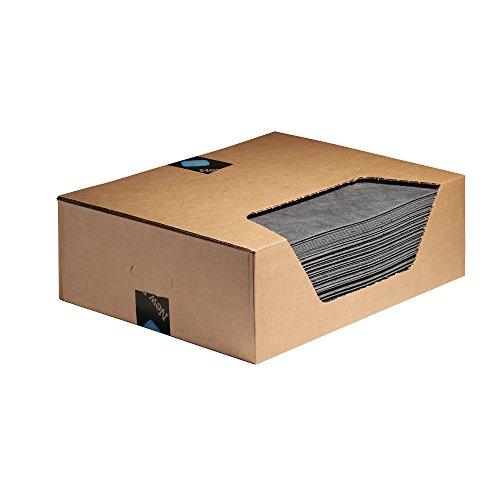 Saugfähigkeit Pads (New Pig mat155Pig Universal Matte, 41,8L Saugfähigkeit, 51cm Länge x 38cm Breite, 100Pad/Box, grau (100Stück))