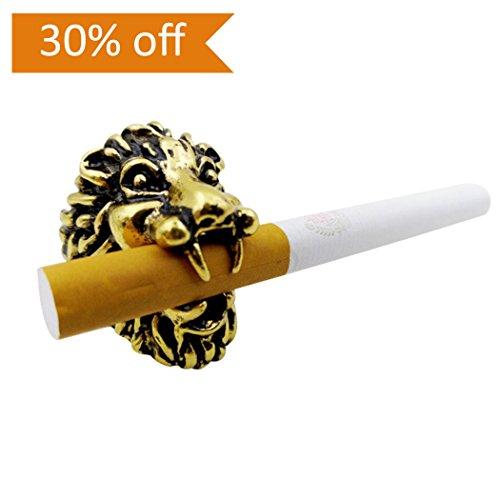 Zigaretten-Halter-Ring, Fansport-Raucher-Halter-Zigaretten-Gestell-Hände geben Löwenkopf für das Reiten / Fahren / Spiel / PC Video frei