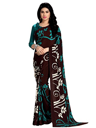 Kanchnar Crepe Saree (182S178_Brown)