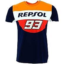 HONDA Repsol Marc Marquez 93 Moto GP Panel Blu Maglietta Ufficiale 2018 b214b9f27924