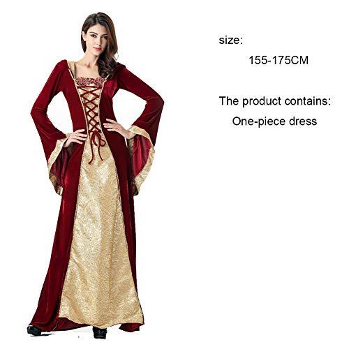 Aini - costume da strega per halloween, per adulti, costume intero da donna, con cappello e cintura