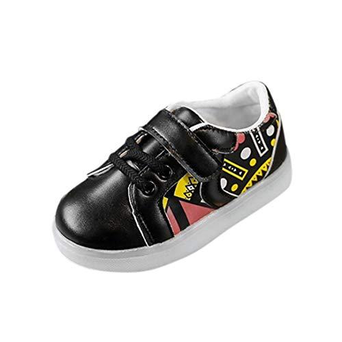 ELECTRI Bébé Garçons Filles Mode Sneakers LED Chaussures Baskets, Brillant  Confortable Enfants Running Lumière Up 1cc1412b9539
