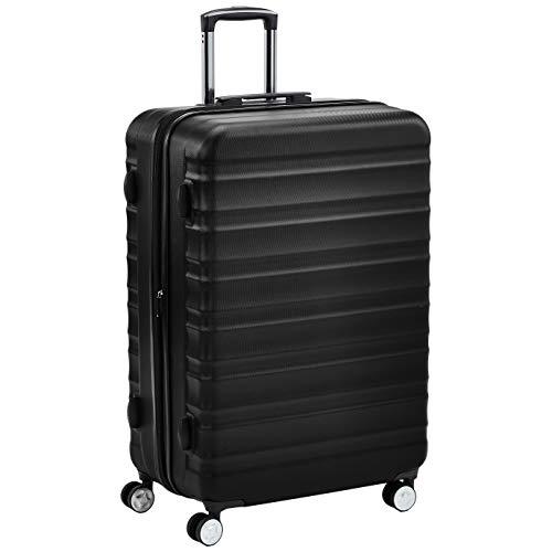 AmazonBasics, Trolley rigido di ottima qualità con rotelle pivotanti, 71 cm, nero