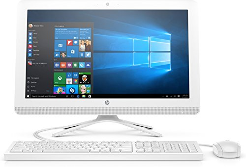 'HP 22-b359nl PC All-in-One Desktop PC, 21.5 Display, Intel Core i3 – 7100u, RAM 8 GB, HDD 1000 GB, Grafik Intel HD 620, Weiß/Schnee weiß
