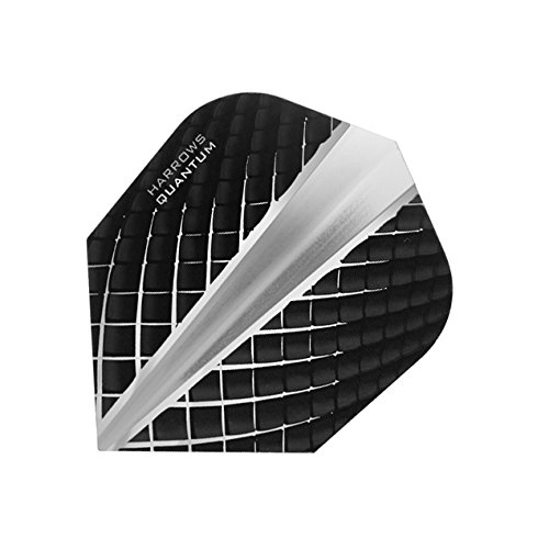 HARROWS Quantum Dart Flights 3D Effekt-100Mikron-Standard Form-Smokey-5sets (15) - Standard Form 100