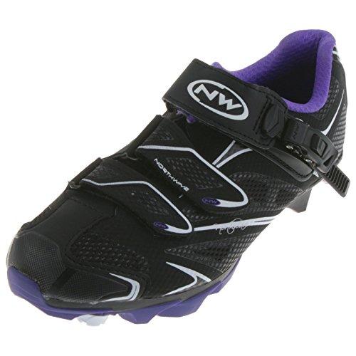 Northwave Katana S.R.S. Damen MTB Fahrrad Schuhe schwarz/violet 2014: Größe: 41