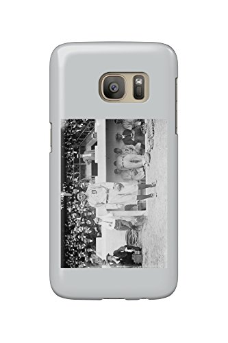 Ty Cobb in front of Dugout Baseball - Vintage Photograph (Galaxy S7 Cell Phone Case, Slim Barely There) (Baseball Dugout)
