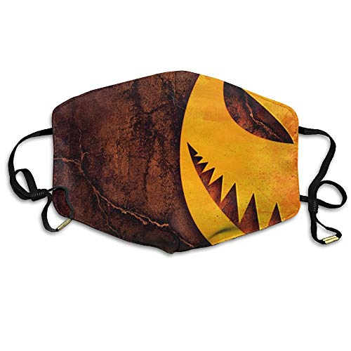 i-Dust Respirator Gift Pumpkin for Halloween Scary Night Wooden Background.jpg ()