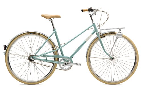 Creme Citybike Caferacer Lady Solo 3 Speed, Turquoise, 55, BI-CRE-4207