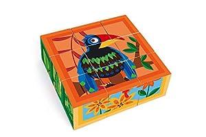 SCRATCH- RompecabezasPuzzles encajables y rompecabezasSCRATCHScratch Puzzle Jungle 9 Blocks 18x18x6cm, Cardboard, in Box, 2+, Multicolor