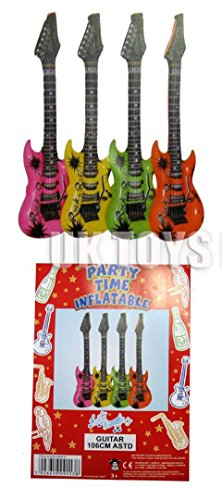 12-x-106cm-assorted-colour-inflatable-guitars-for-birthday-parties-barbecues-gigs-and-concerts-green