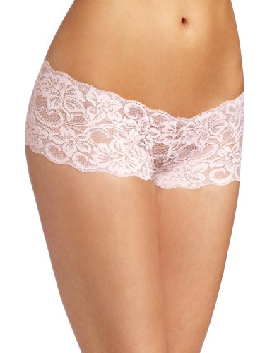 Baci Women's Lace Boyshort, Pink, Small (Boyshort-tanga Lace)