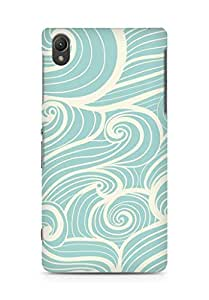 Amez designer printed 3d premium high quality back case cover for Sony Xperia Z2 (waves)