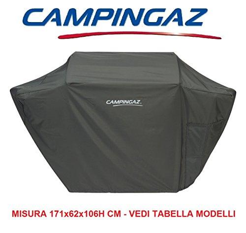 Toalla carcasa original para barbacoa Campingaz Modelo BBQ Premium XXXL costruito (poliéster 100{5c82e596e8e6305e03e05c94e77ef52511037521be9d396e5758fc45347c1bc1}) gris oscuro sellador de cordón de cierre–tamaño 171x 62x 106h cm