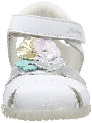 Primigi FRAISE, Sandales premiers pas bébé fille Blanc (Nappa S/Vit Lam Bianco/Argento)