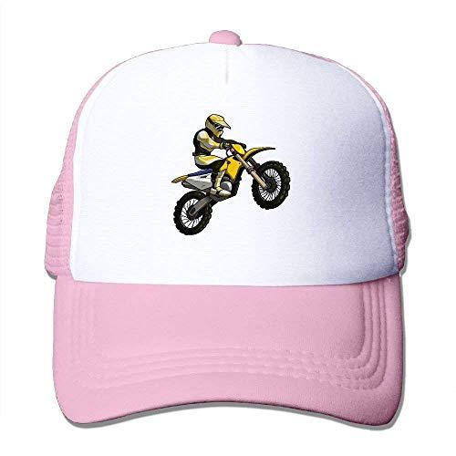 Wdskbg Motocross Rider Clipart Adjustable Sports Mesh Baseball Trucker Caps Sun Hats Design12