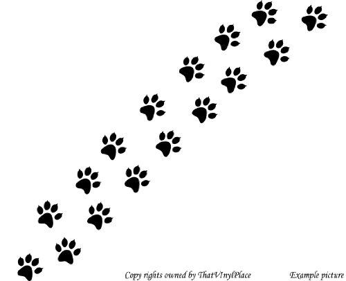 Cane Gatto Paw Stampa Adesivi Set di 16x (7,5cm) colore: nero a forma di coccinella, cameretta dei bambini, stanza dei bambini Adesivi, vinile auto, Windows e adesivo parete, Windows Art, decalcomanie, Ornamento vinile ThatVinylPlace - Paw Stampe