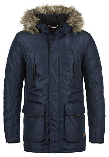 Navy Zwei-knopf-blazer-jacke (PRODUKT Parkin Herren Parkin Parka lange Winterjacke mit Kapuze samt abnehmbaren Fellkragen und aus hochwertigem Material, Größe:M, Farbe:Navy Blazer)