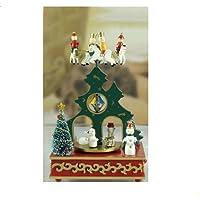 Carillon Giostra Con Albero 17X12X27 Cm Addobbi Natalizi Natale Arredo Gt 937423