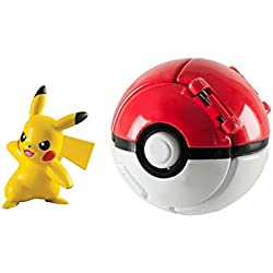 TOMY - T119116A - Throw'n Pop Poké Ball - Pikachu + Poké Ball