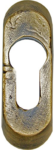 Imex El Zorro 76839 El Zorro 76839-Bocallave latón rústico Placa, 75 x 25 mm