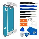 MMOBIEL Front Glas kompatibel mit Samsung Galaxy S3 / S3 Neo Series (Weiss) mit Werkzeug-Set