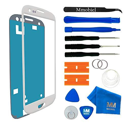 MMOBIEL® Kit de Reemplazo de Pantalla Táctil para Samsung Galaxy S3 i9300 i9305 / S3 Neo i9301 Series (Blanco) Incl Kit de Herramientas/Pinzas / Cinta Adhesiva/Limpiador / Alambre/Manual